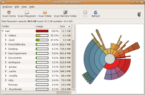 Ubuntu - Disk Usage Analyzer